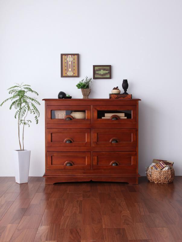 【キャッシュレス5%還元】アンティーク調アジアン家具シリーズ RADOM ラドム チェスト 幅101