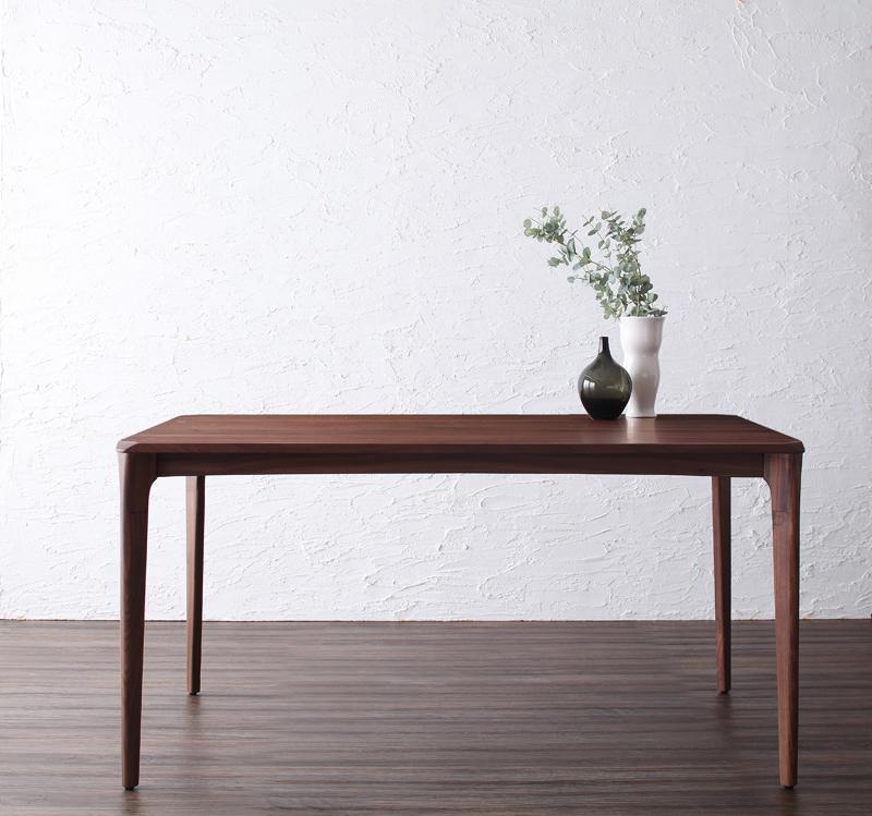 【キャッシュレス5%還元】天然木ウォールナット無垢材ダイニング Kate ケイト ダイニングテーブル W150