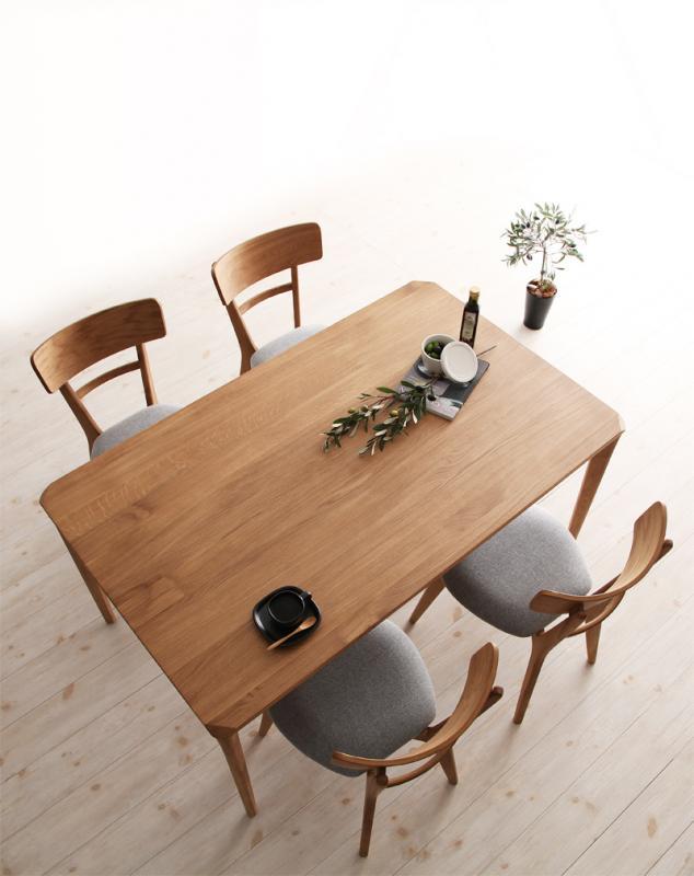 【キャッシュレス5%還元】天然木オーク無垢材ダイニング KOEN コーエン 5点セット(テーブル+チェア4脚) W150