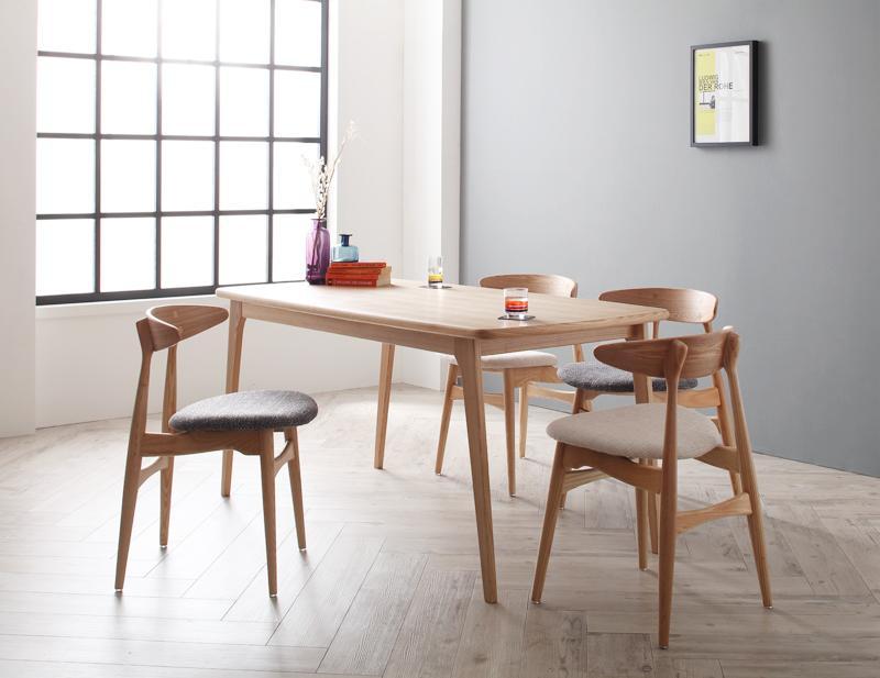 【キャッシュレス5%還元】北欧デザイナーズダイニングセット Cornell コーネル 5点セット(テーブル+チェア4脚) W150