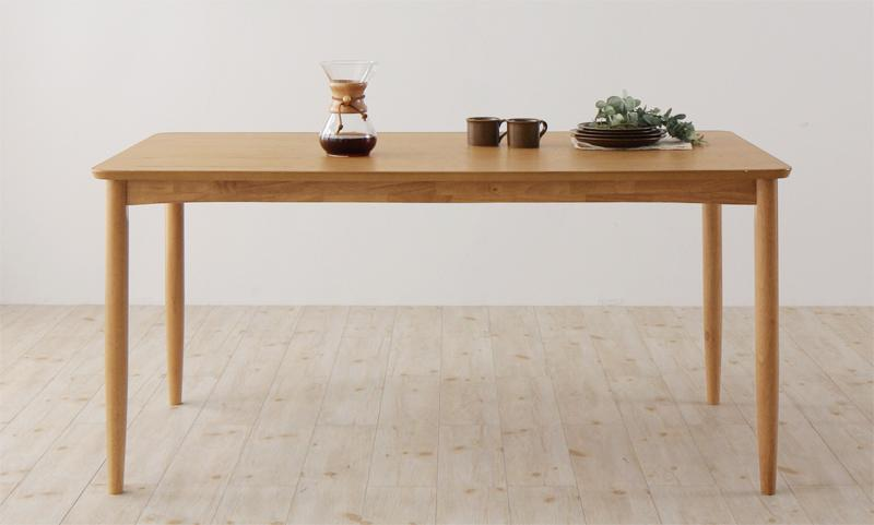 【キャッシュレス5%還元】天然木オーク材 北欧デザイン ダイニングセット Sonatine ソナチネ ダイニングテーブル W150