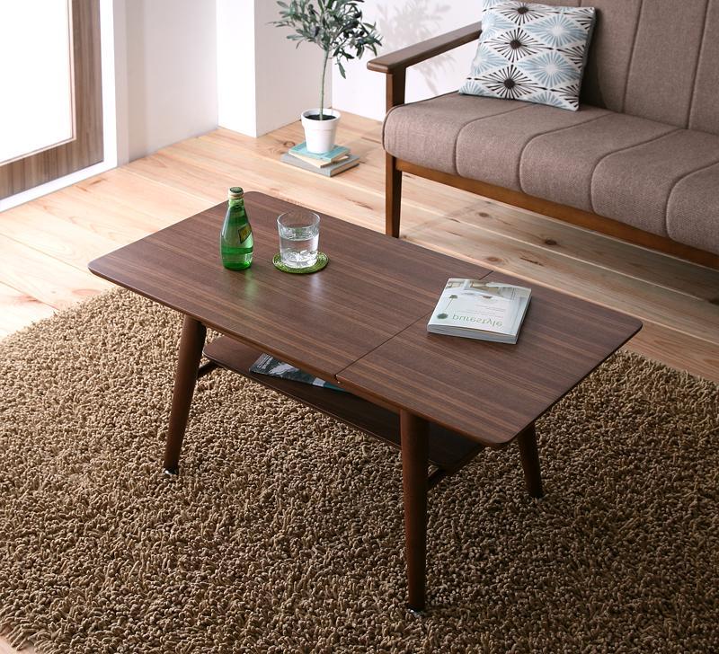【キャッシュレス5%還元】天然木北欧デザイン伸長式エクステンションローテーブル Noyie ノイエ W60-90
