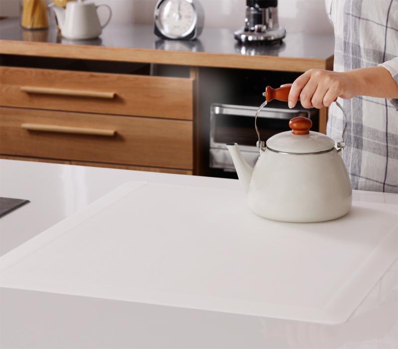 【キャッシュレス5%還元】透明ラグ・シリコンマット スケルトシリーズ Skelt スケルト キッチンカウンター保護マット 45×45cm