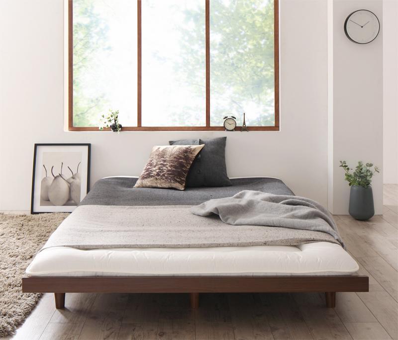 【キャッシュレス5%還元】デザインボードベッドロング Girafy ジラフィ ベッドフレームのみ 木脚タイプ セミダブル ロング丈