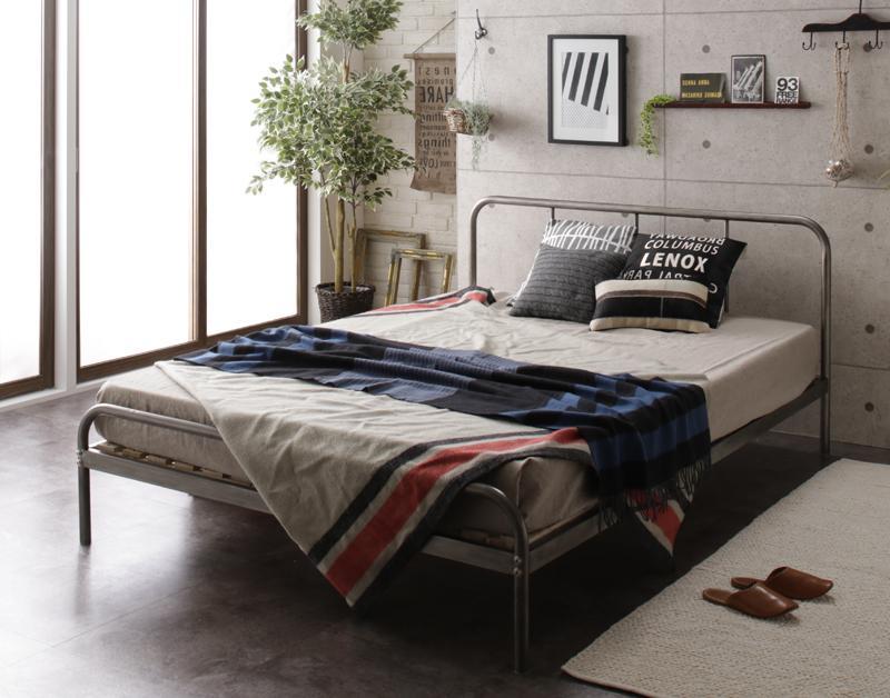 デザインスチールすのこベッド Dualto デュアルト フットロー マルチラススーパースプリングマットレス付き セミダブル