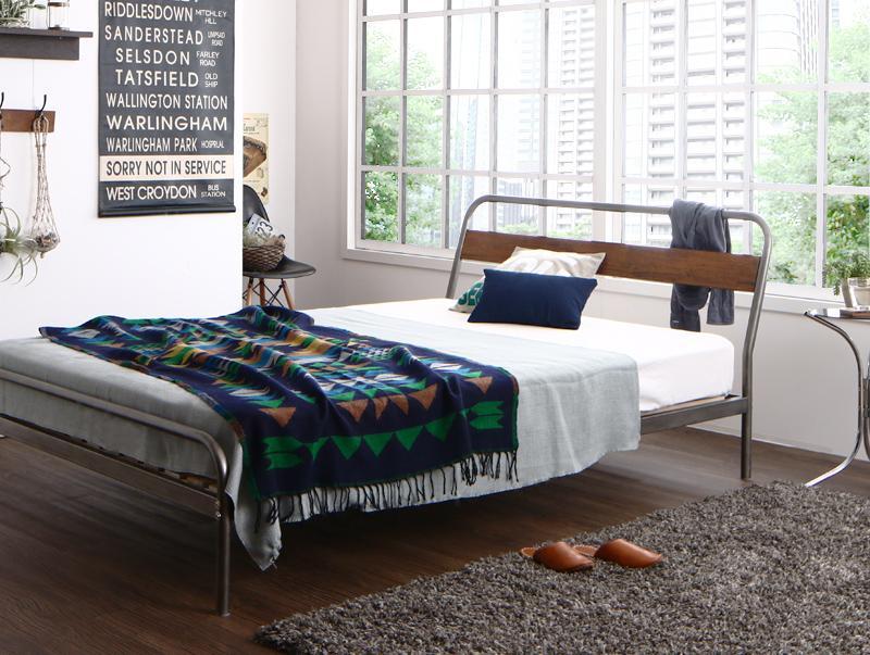 デザインスチールすのこベッド Diperess ディペレス ポケットコイルマットレスハード付き シングル