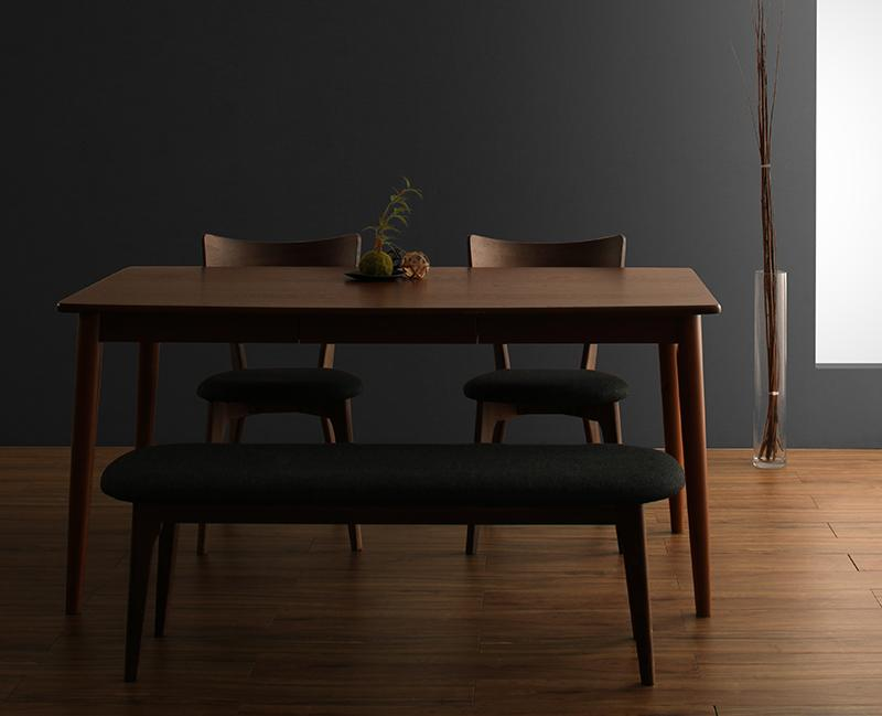 モダンデザインダイニング Le qualite ル・クアリテ 4点セット(テーブル+チェア2脚+ベンチ1脚) W150