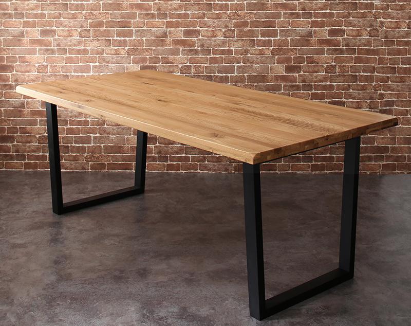 オーク無垢材ヴィンテージデザインワイドサイズダイニング Lepus レプス ダイニングテーブル W180