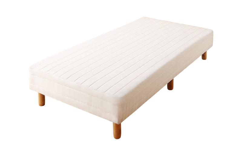 【キャッシュレス5%還元】ショート丈分割式 脚付きマットレスベッド ボンネル お買い得ベッドパッド・シーツは別売り シングル ショート丈 脚8cm