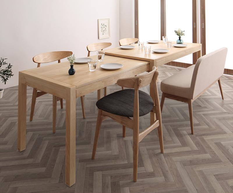 北欧デザイン スライド伸縮テーブル ソラ SORA ダイニングセット SORA W135-235 ソラ 6点セット(テーブル+チェア4脚+ソファベンチ1脚) W135-235, ヒガシヨドガワク:30278cd7 --- sunward.msk.ru