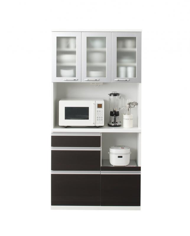 奥行41cmの薄型モダンデザインキッチン収納 Sfida スフィーダ キッチンボード W90