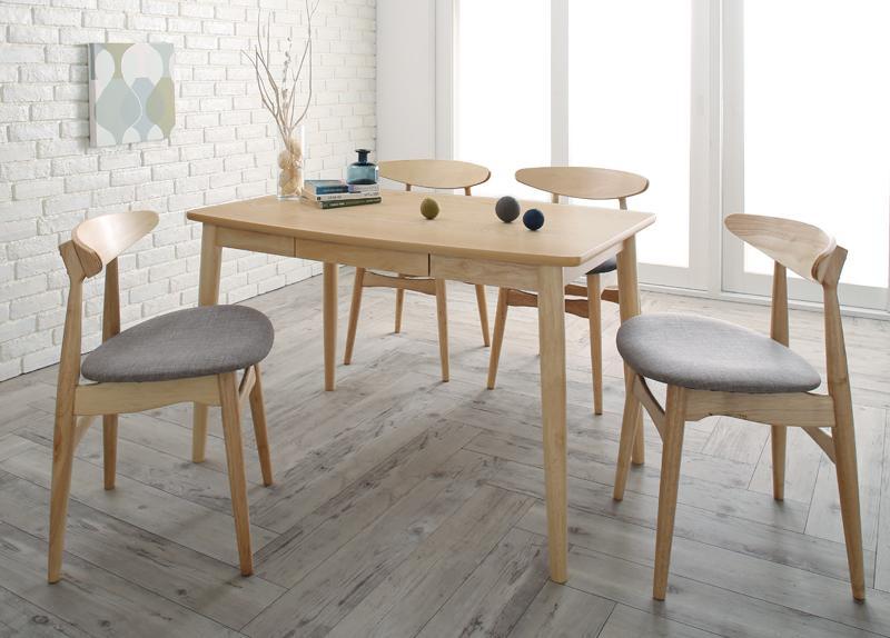 【キャッシュレス5%還元】北欧スタイル ダイニング Laurel ローレル 5点セット(テーブル+チェア4脚) W115