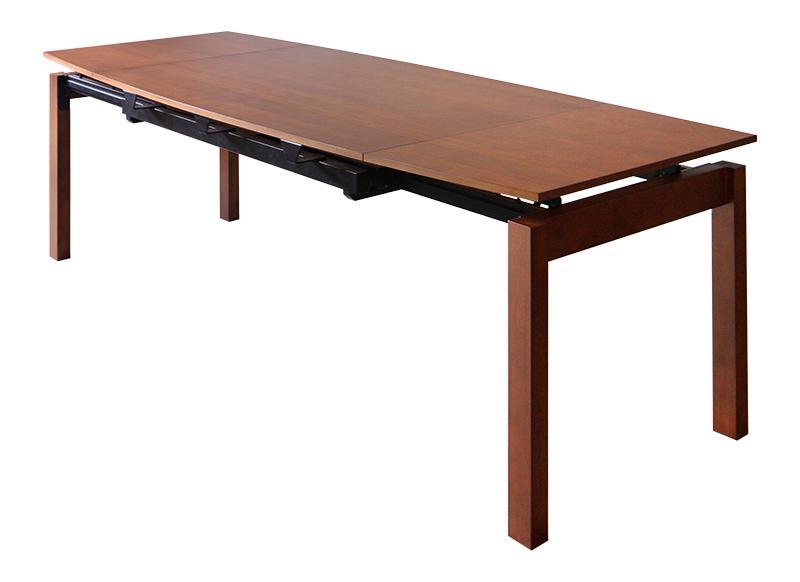 【キャッシュレス5%還元】北欧テイスト 天然木ウォールナット材 伸縮ダイニングセット KANA カナ ダイニングテーブル W140-240