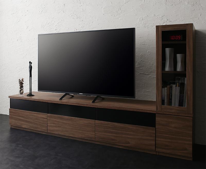キャビネットが選べるテレビボードシリーズ add9 アドナイン 2点セット(テレビボード+キャビネット) ガラス扉 W180