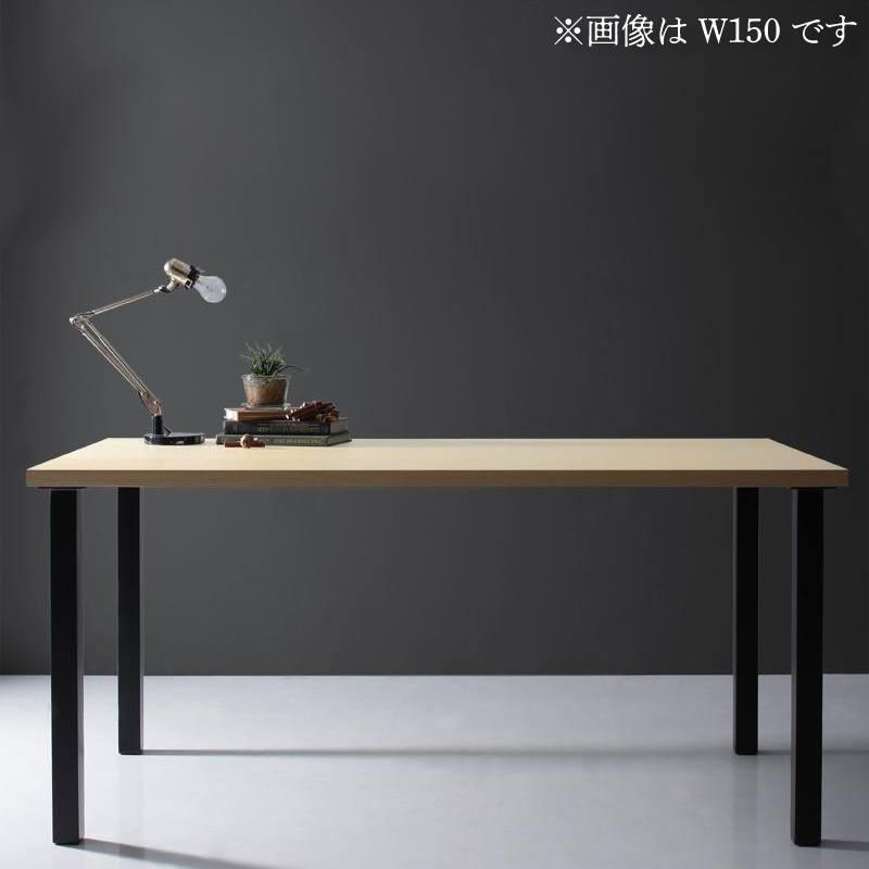 【キャッシュレス5%還元】天然木天板 スチール脚 モダンデザインテーブル Gently ジェントリー ナチュラル ストレート脚 W120