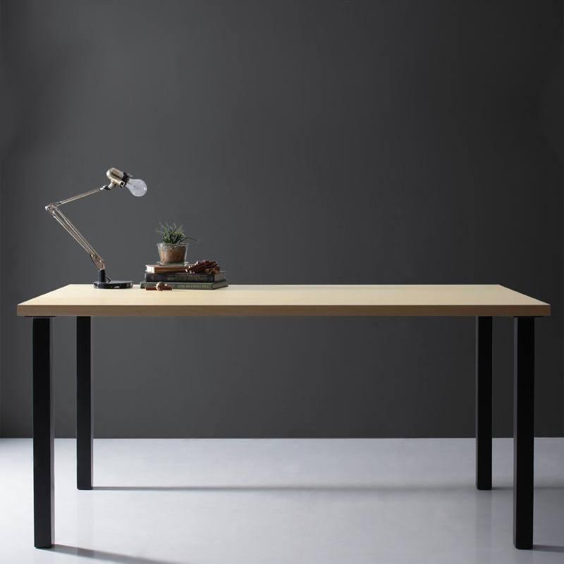 【キャッシュレス5%還元】天然木天板 スチール脚 モダンデザインテーブル Gently ジェントリー ナチュラル ストレート脚 W150