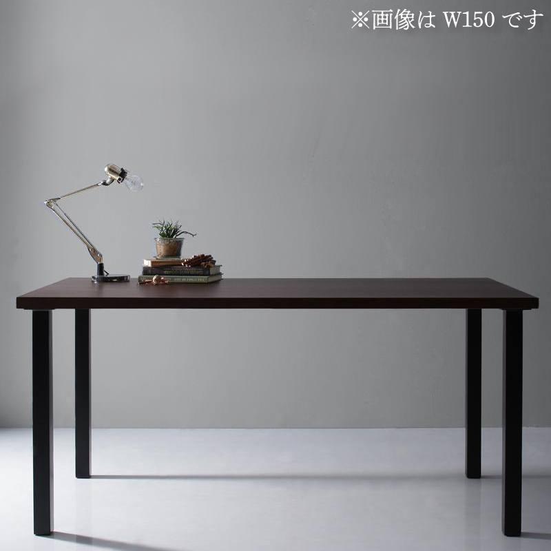 【キャッシュレス5%還元】天然木天板 スチール脚 モダンデザインテーブル Gently ジェントリー ブラウン ストレート脚 W120