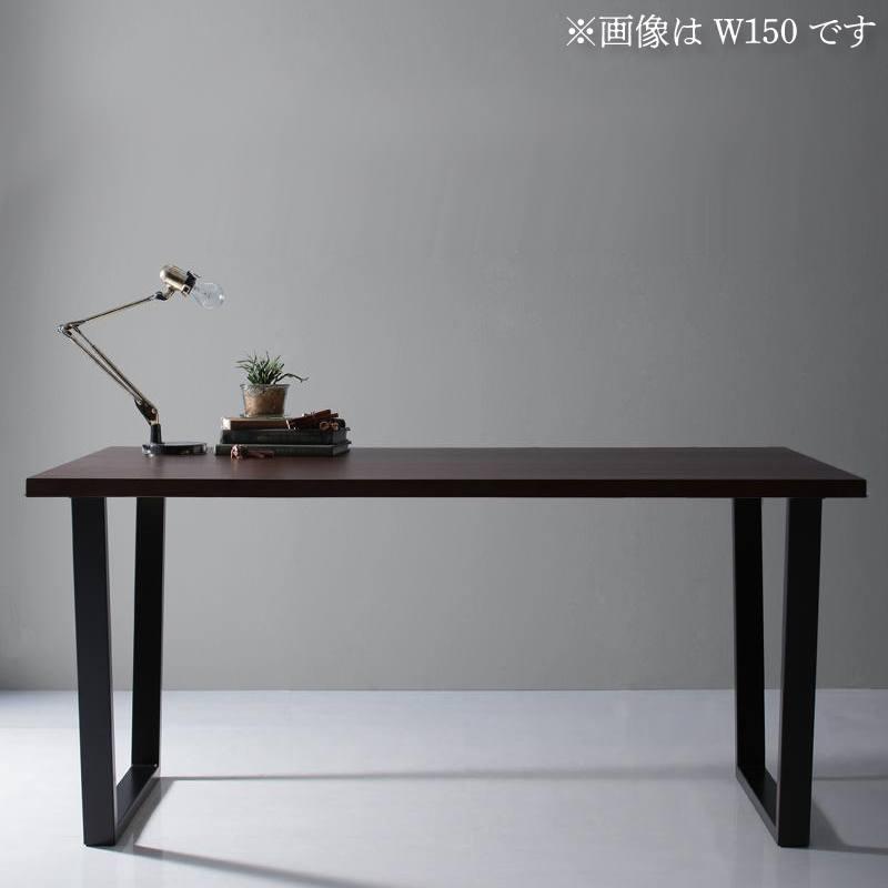 【キャッシュレス5%還元】天然木天板 スチール脚 モダンデザインテーブル Gently ジェントリー ブラウン V字脚 W120
