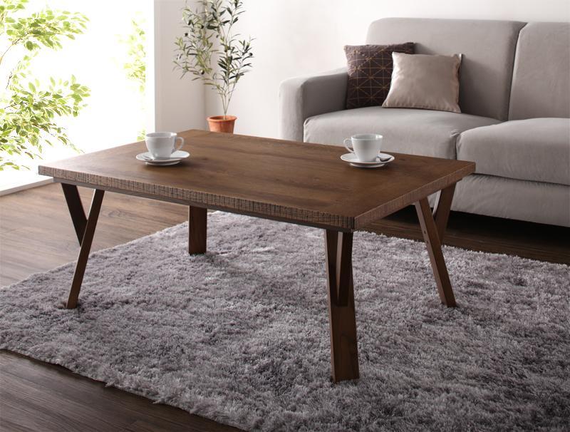 天然木オーク材 ヴィンテージ加工国産こたつテーブル Stunnixe スタニクス/長方形(105×70)