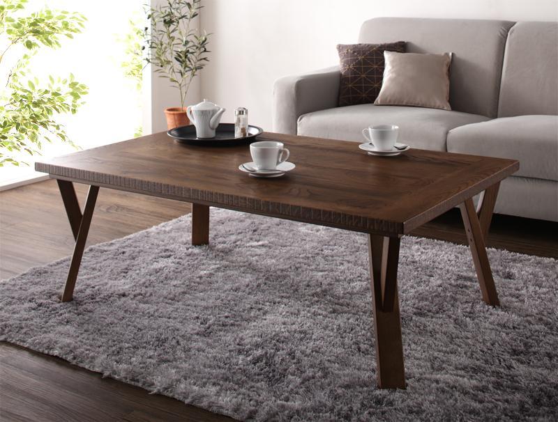 天然木オーク材 ヴィンテージ加工国産こたつテーブル Stunnixe スタニクス/長方形(120×75)