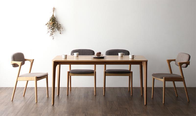 天然木オーク無垢材 北欧ダイニングセット The North ザ・ノース 5点セット テーブル+チェア4脚 W150