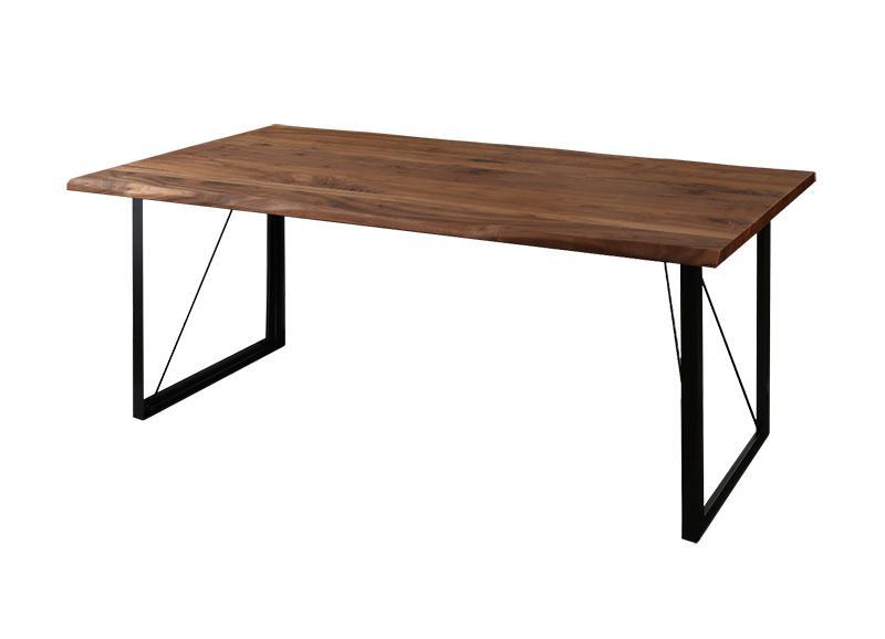 【キャッシュレス5%還元】天然木ウォールナット無垢材ヴィンテージデザインダイニング Detroit デトロイト ダイニングテーブル W180
