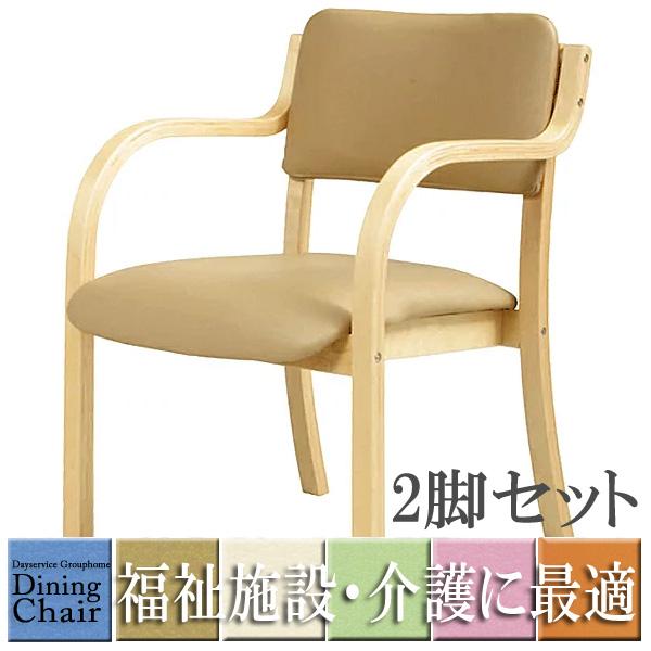 肘付ダイニングチェア 福祉 介護 椅子 施設 デイサービス DC-530P お年寄り 肘掛け 介護イス 介護椅子 介護用椅子 介護 椅子 肘付 食堂 椅子 イス チェア 通い所 いす シルバー 業務用 同色2脚セット