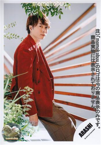 クリックポスト発送 ARASHI 送料無料/新品 嵐 プレゼント 公式 写真 生 櫻井翔 ARA00143