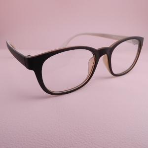 新生活 送料込み メガネケース付 送料無料 セール特価 メガネ マット系 伊達めがね ダークブランxベージュ ブラックケース付