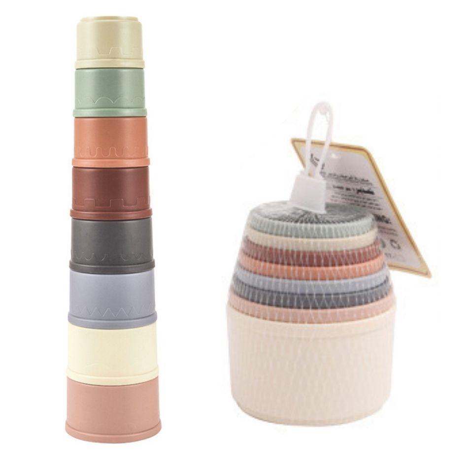 永遠の定番モデル くすみカラーが可愛い くすみカラーのおもちゃ つみあげカップ お風呂 海 プール 砂場 砂浜 海外限定