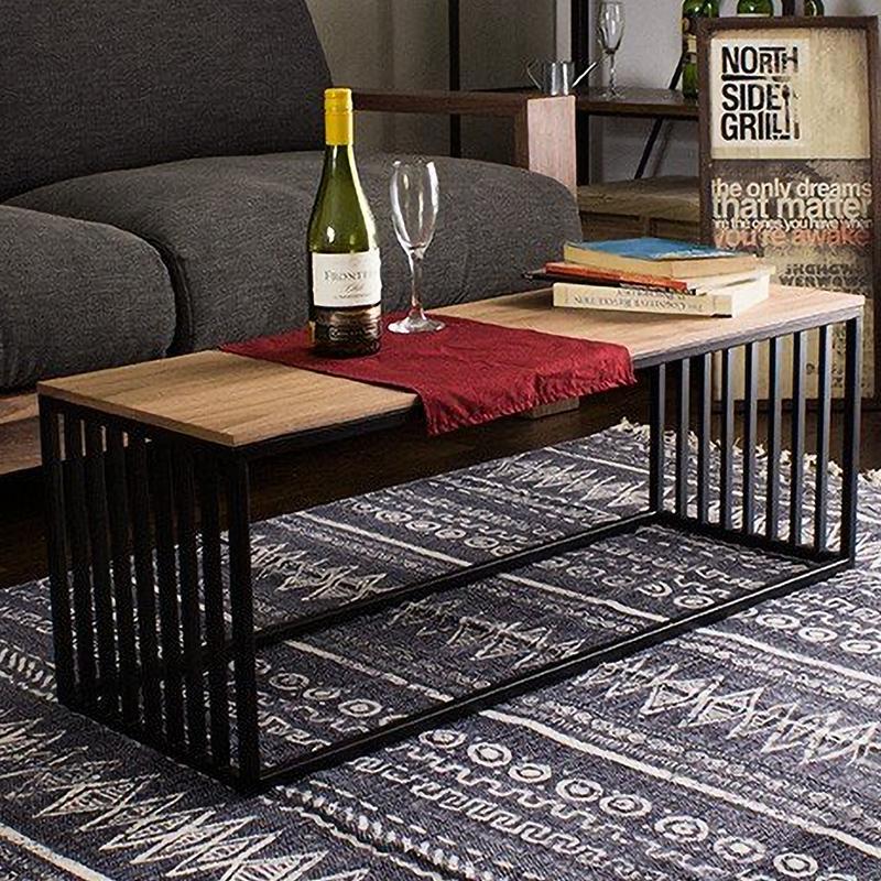 センターテーブル ローテーブル サイドテーブル テーブル コンパクト Cageセンターテーブル 幅1000 奥行350 ウォールナット アイアン 四角 アンティーク ヴィンテージ リビング 玄関