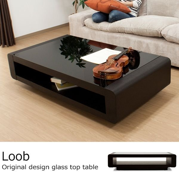 テーブル / Loob ローテーブル センターテーブル リビングテーブル 天板 ガラス製