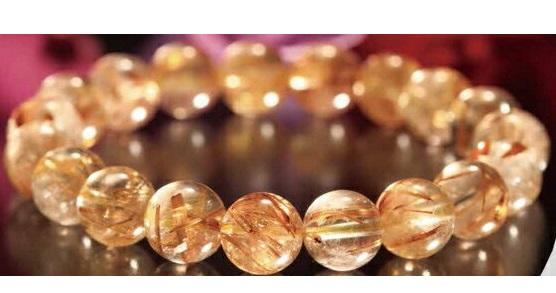 【大感謝価格 】高級天然ルチルブレスレット 10mm珠