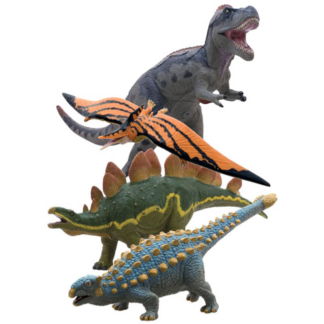 大感謝価格『ビニールモデル個性派恐竜4体セット(70667-70671-70672-70688)』『メーカー直送品。代引不可・同梱不可・返品キャンセル・割引不可』フィギュア コレクション ホビー 雑貨 グッズ5940円税別以上送料無料