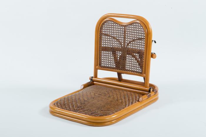 【メーカー直送・大感謝価格】ラタン畳座椅子 GNM01 W46×D60~70×H50cm 座面高7cm 籐100%