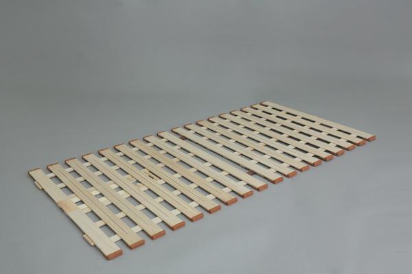 【メーカー直送・大感謝価格】薄型軽量桐すのこベッド スタンド式 LYZ410 ダブル W1400×D2000×H18mm 7.5kg 天然木(桐)