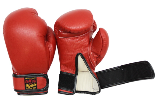 【メーカー直送・大感謝価格】日本拳法防具 日本拳法グローブ(赤) 6オンス 少年用MT式(マジックテープ式) N-21 明倫産業
