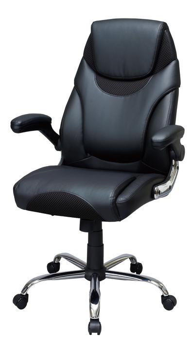 【メーカー直送・大感謝価格 】マネージャーチェア ソルク SMP-BK ブラック W71×D72×H107-116.5cm