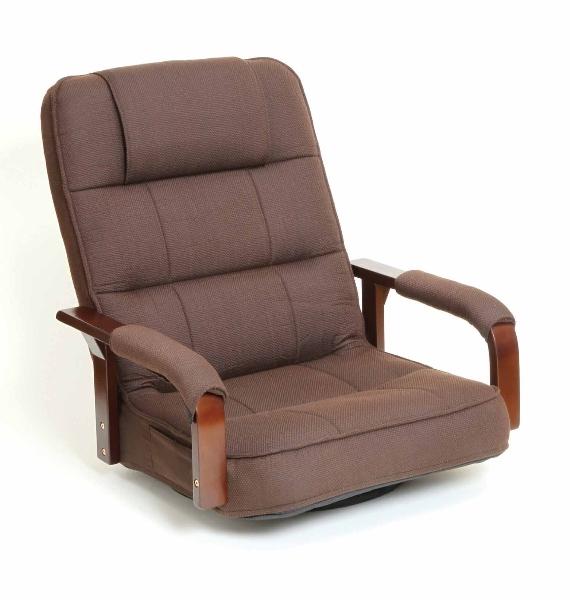 大感謝価格『天然木肘付き 幅広ゆったり回転椅子 SW110BR』送料無料『メーカー直送品。代引・後払い・同梱・返品・キャンセル・割引不可』 家具 インテリア ソファ