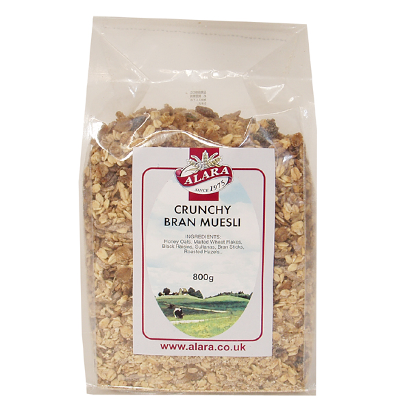 大感謝価格【アララ クランチブランミューズリー 800g×32個セット】自然食 セットでお得 朝食 小麦ブラン ミルクなどで アララ クランチブランミューズリー送料無料ポイント