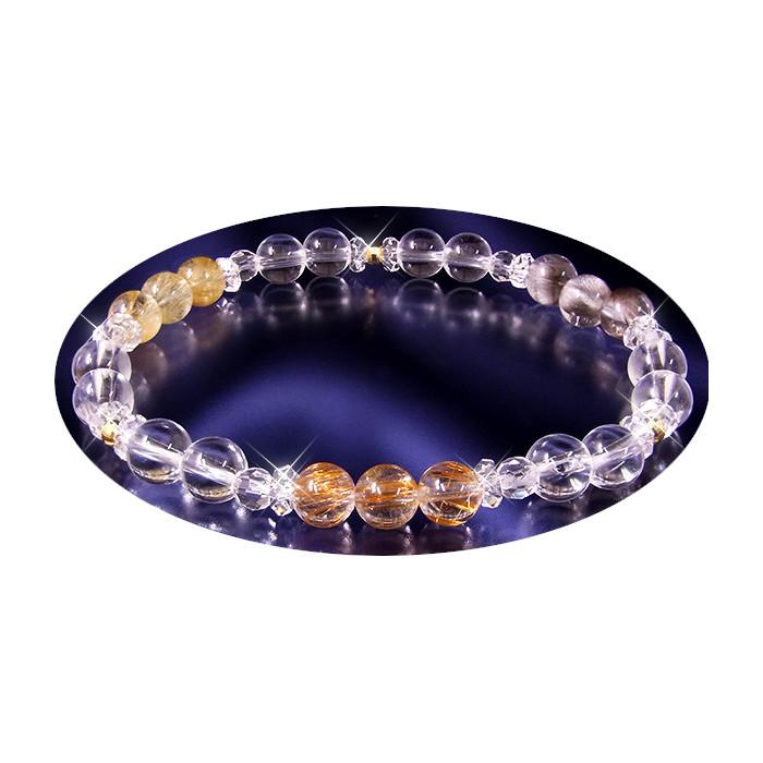 【トリプル針水晶ブレスレット】送料無料アクセサリー 腕輪トリプル針水晶ブレスレット10P01Mar15