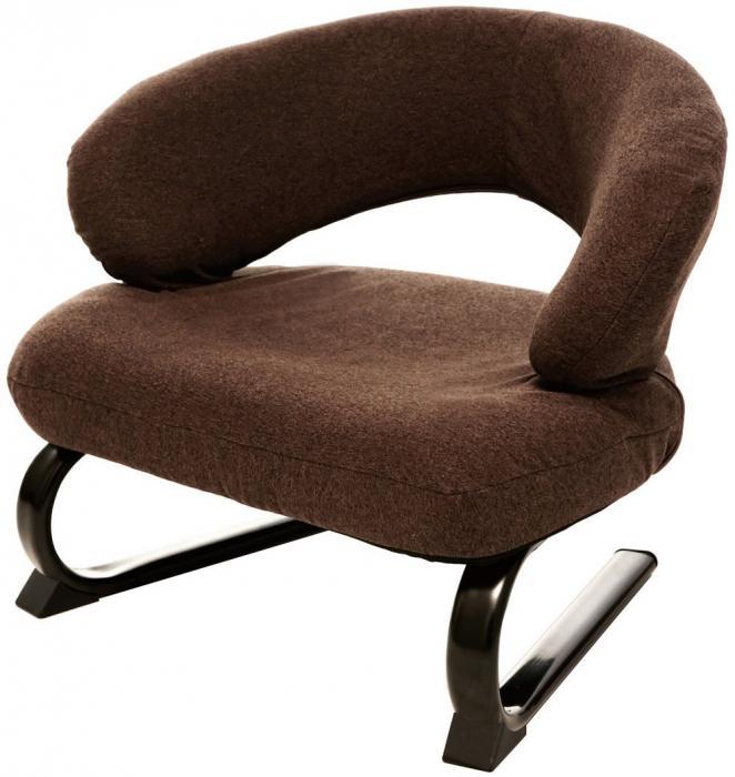 『腰らく座敷椅子』送料無料(割引サービス対象外)背もたれがフィット リクライニング式 あぐらもかける腰らく座敷椅子