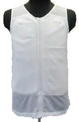 『『耐刃防護生地』 京都西陣yoroi セーフティーインナーベスト 白 S  (胸ポケット付き) SP-BD2』