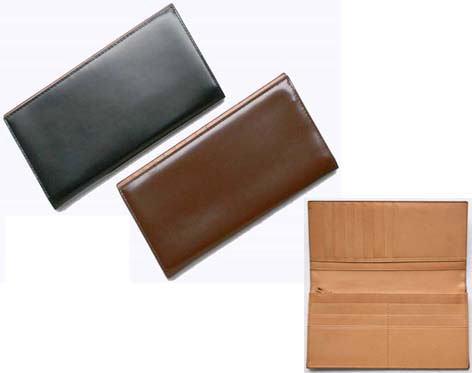 【大感謝価格 】Costoroma コードバン・長財布 ブラック/ブラウン