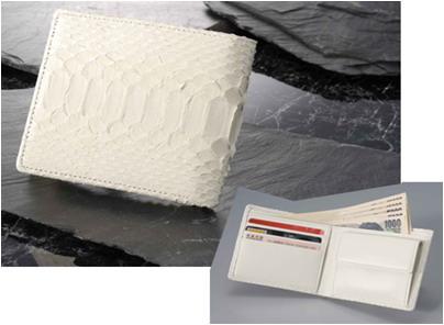 【大感謝価格 】白蛇 二つ折り財布 K9693