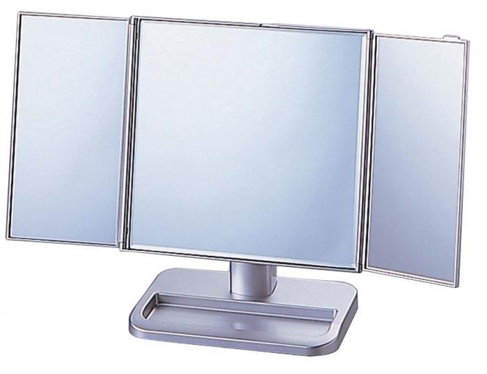 スタンドミラー 卓上ミラー 大型 三面鏡 扉付き 化粧鏡 メイクアップミラー インテリア 爆買い送料無料 シルバー ブランド激安セール会場 25日は全品ポイント5倍企画アリ S-888-70スタンドミラー