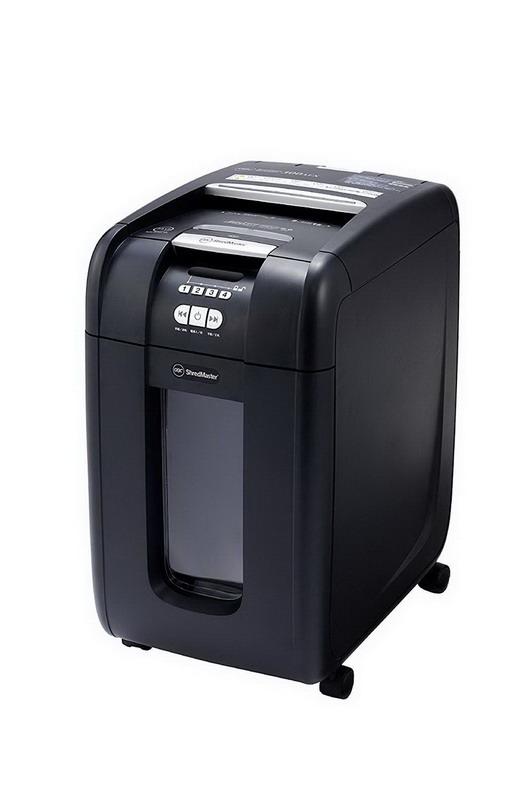 送料無料 オフィス機器 裁断用品 電動シュレッダー CD DVD カード細断 個人情報保護 【大感謝価格 】アコブランズジャパン オートフィード クロスカットシュレッダ GCS300AFX-B