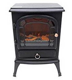 【大感謝価格】電気式暖炉 HF-2008 ホワイト/ブラック