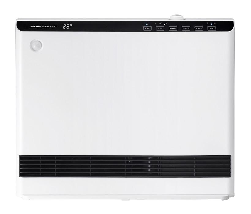 【大感謝価格】人感/室温センサー付 大風量加湿パネルセラミックヒーター マキシムワイドヒート ホワイト CH-T1961WH
