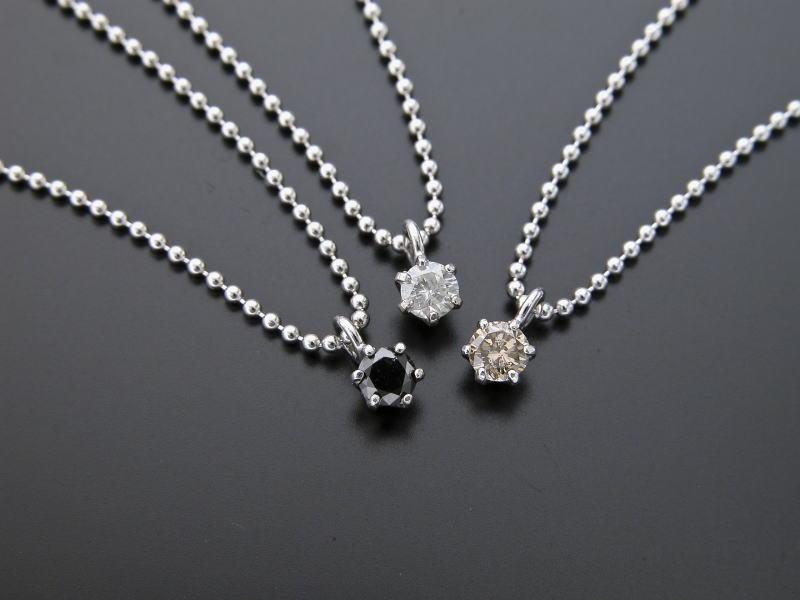 『ダイヤモンドペンダント3本組』※受注生産の為、発送までに2週間ほどかかります(割引サービス対象外)誕生日 プレゼント 女性 アクセサリー ネックレス おしゃれ『ダイヤモンドペンダント3本組』